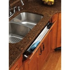 25 Inch Stainless Steel Tip-Out Tray - Silver