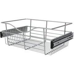 18 x 12 x 7 Inch Closet Pullout Basket - Chrome