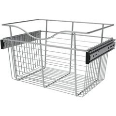 18 x 12 x 11 Inch Closet Pullout Basket - Chrome