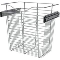 18 x 12 x 18 Inch Closet Pullout Basket - Chrome