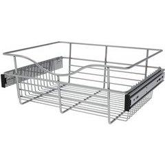 18 x 14 x 7 Inch Closet Pullout Basket - Chrome