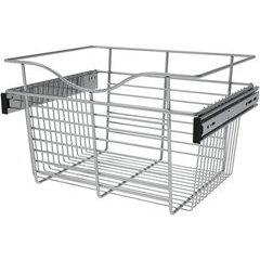 18 x 14 x 11 Inch Closet Pullout Basket - Chrome