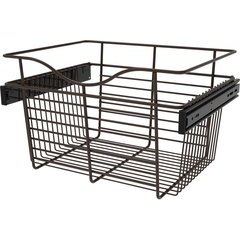 18 x 14 x 11 Inch Closet Pullout Basket - Oil Rubbed Bronze