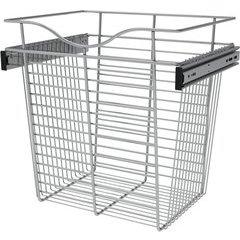 18 x 14 x 18 Inch Closet Pullout Basket - Chrome