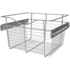 18 x 16 x 11 Inch Closet Pullout Basket - Chrome