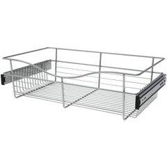 24 x 14 x 7 Inch Closet Pullout Basket - Chrome