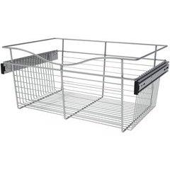 24 x 16 x 11 Inch Closet Pullout Basket - Chrome