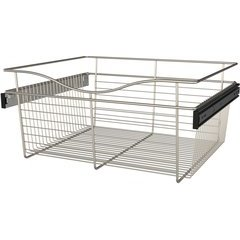 24 x 20 x 11 Inch Closet Pullout Basket - Satin Nickel