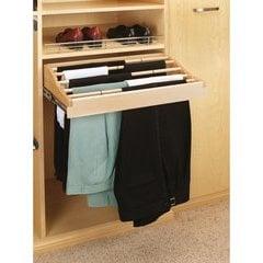 24 Inch Pants Rack Organizer - Natural Wood