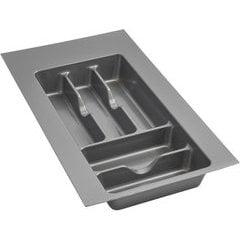 Small Silver Glossy Cutlery Organizer - Metallic Silver