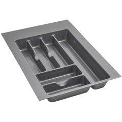 Medium Silver Glossy Cutlery Organizer - Metallic Silver