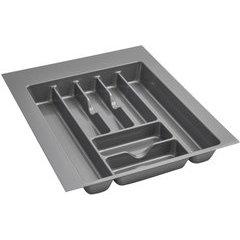 Large Silver Glossy Cutlery Organizer - Metallic Silver