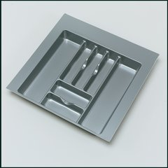 Extra Large Silver Glossy Cutlery Organizer - Metallic Silver
