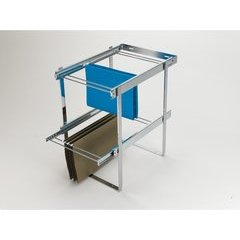Two-Tier File Drawer System - Chrome