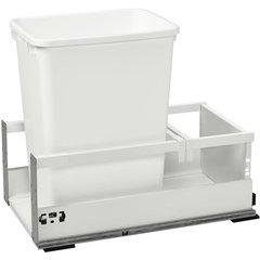 35 Quart TANDEMBOX Single Trash Pullout - White