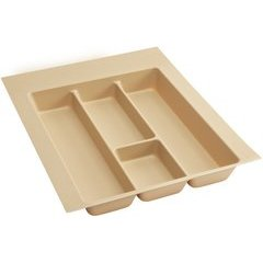 Large Polymer Utility Tray - Almond