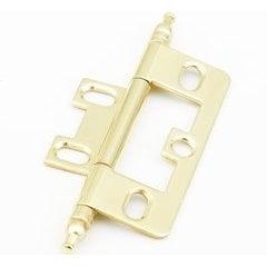 Non-Mortise Hinge with Minaret Tip- Polished Brass