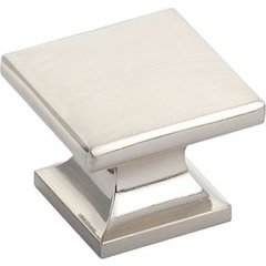 Northport 1-3/8 Inch Diameter Square Brushed Nickel Cabinet Knob