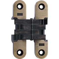 #216 Invisible Hinge Antique Brass