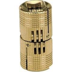 Solid Brass Barrel Hinge 18mm