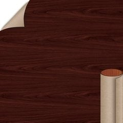 Empire Mahogany Textured Gloss Finish 4 ft. x 8 ft. Peel/Stick Vertical Grade Laminate Sheet