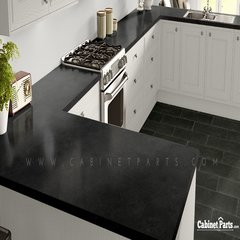 Wilsonart Black Alicante Textured Gloss Finish 4 ft. x 8 ft. Countertop Grade Laminate Sheet 4926K-07-350-48X096