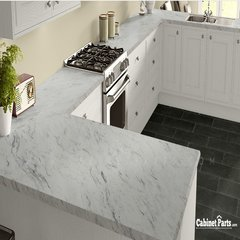 Wilsonart Calcutta Marble Textured Gloss Finish 4 ft. x 8 ft. Vertical Grade Laminate Sheet 4925K-07-335-48X096