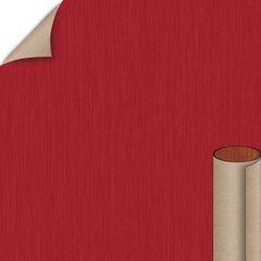 Regimental Red Linearity Finish 4 ft. x 8 ft. Peel/Stick Vertical Grade Laminate Sheet
