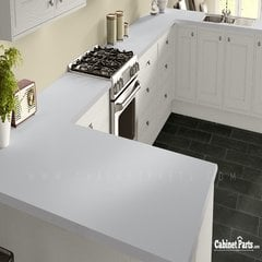 Wilsonart Designer White Matte Finish 4 ft. x 8 ft. Peel/Stick Vertical Grade Laminate Sheet D354-60-735-48X096