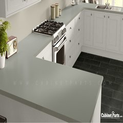 Wilsonart Grey Matte Finish 4 ft. x 8 ft. Vertical Grade Laminate Sheet 1500-60-335-48X096