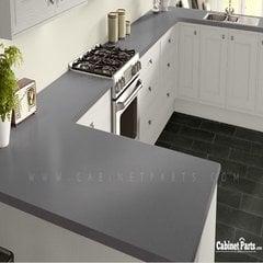 Wilsonart Grey Glace Matte Finish 4 ft. x 8 ft. Peel/Stick Vertical Grade Laminate Sheet 4142-60-735-48X096