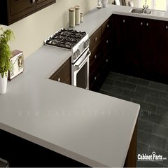 Wilsonart Grey Mesh Fine Velvet Texture Finish 4 ft. x 8 ft. Countertop Grade Laminate Sheet 4877-38-350-48X096