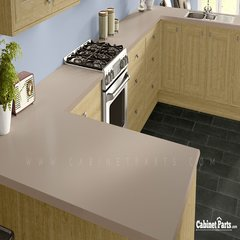 Wilsonart Khaki Brown Matte Finish 4 ft. x 8 ft. Countertop Grade Laminate Sheet D50-60-350-48X096