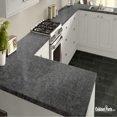 Wilsonart Pewter Brush Matte Finish 5 ft. x 12 ft. Countertop Grade Laminate Sheet 4779-60-350-60X144