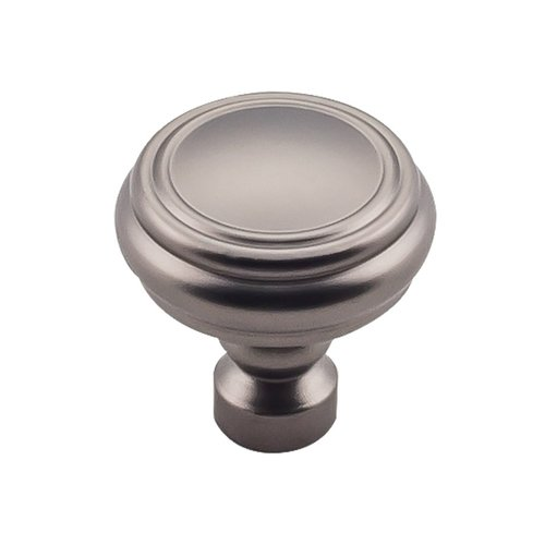 "Top Knobs Devon Brixton Rimmed Knob 1 1/4 ""Diameter Ash Gray TK880AG"