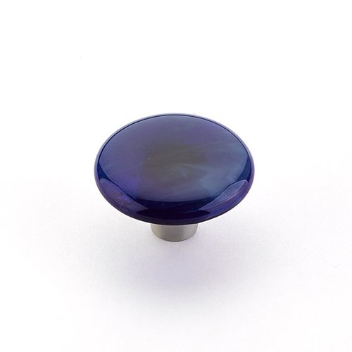 Schaub and Company Ice 1-1/2 Inch Diameter Sapphire Silk Cabinet Knob 31-SPS
