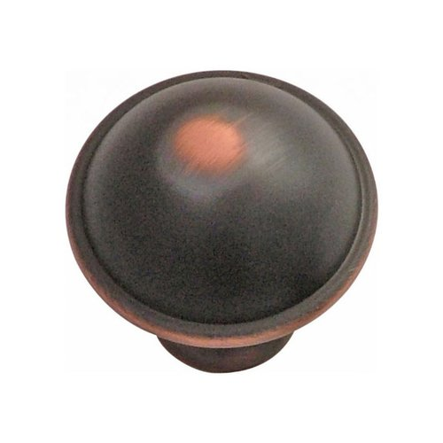 Hickory Hardware Savoy 1-1/4 Inch Diameter Oil Rubbed Bronze Highlighted Cabinet Knob P2243-OBH