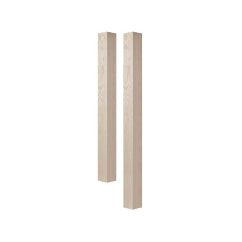 "Brown Wood 4"" Square Island Column Unfinished Hard Maple 01624010HM1"