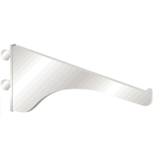 "Knape and Vogt KV #180 Bracket 10""- White 180 WH 10"