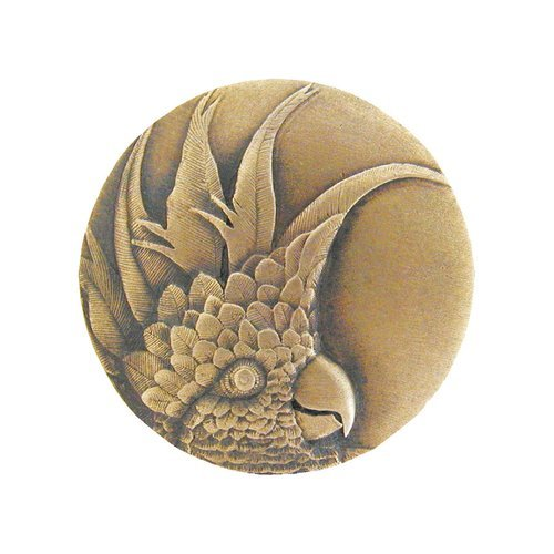 Notting Hill Tropical 1-3/8 Inch Diameter Antique Brass Cabinet Knob NHK-324-AB-L
