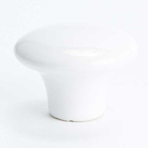 Berenson Lexington 1-1/2 Inch Diameter White Cabinet Knob 4970-539-P