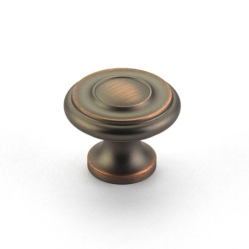 Schaub and Company Colonial 1-1/4 Inch Diameter Aurora Bronze Cabinet Knob 703-AUB