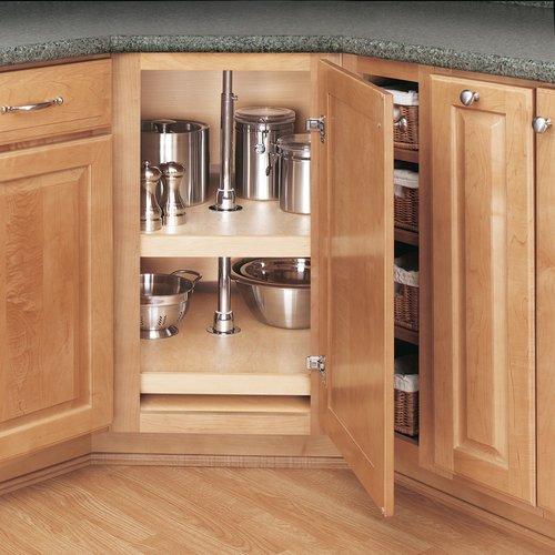 "Rev-A-Shelf 4WLS 2-Shelf D Shape Wood 31"" 4WLS272-31-52"