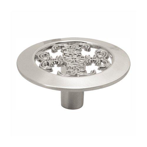 Hickory Hardware Cavalier 1-1/2 Inch Diameter Satin Nickel Cabinet Knob P117-SN