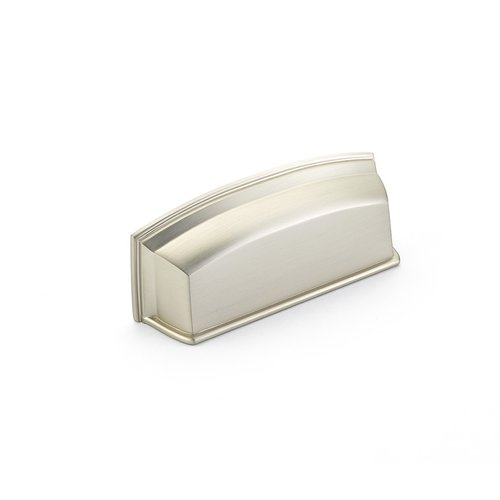Schaub and Company Menlo Park 3-1/2 Inch Center to Center Satin Nickel Cabinet Cup Pull 534-15