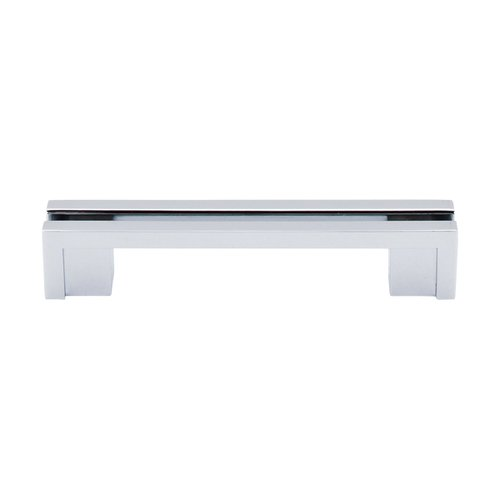 Top Knobs Sanctuary 3-1/2 Inch Center to Center Polished Chrome Cabinet Pull TK55PC