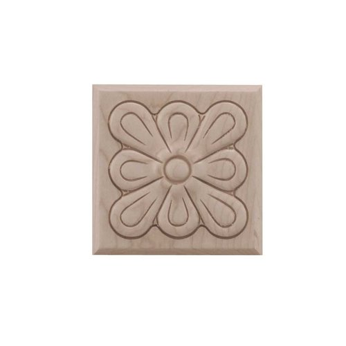 Brown Wood Small Fleur Tile Unfinished Hard Maple 01901015HM1