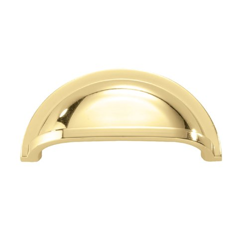 Hickory Hardware Williamsburg 3 Inch Center to Center Polished Brass Cabinet Cup Pull P3055-PB
