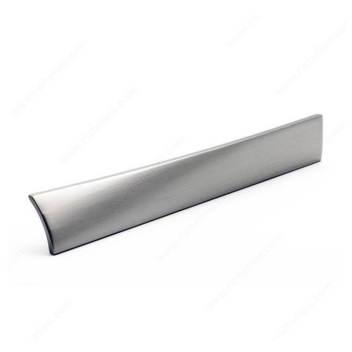 Richelieu Edge 3-3/4 Inch Center to Center Brushed Nickel Cabinet Pull 5182096195