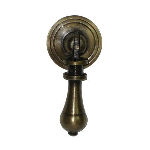 Gado Gado Teardrop Pulls 1-1/8 Inch Diameter Unlacquered Antique Brass Pendant Pull HTP1014